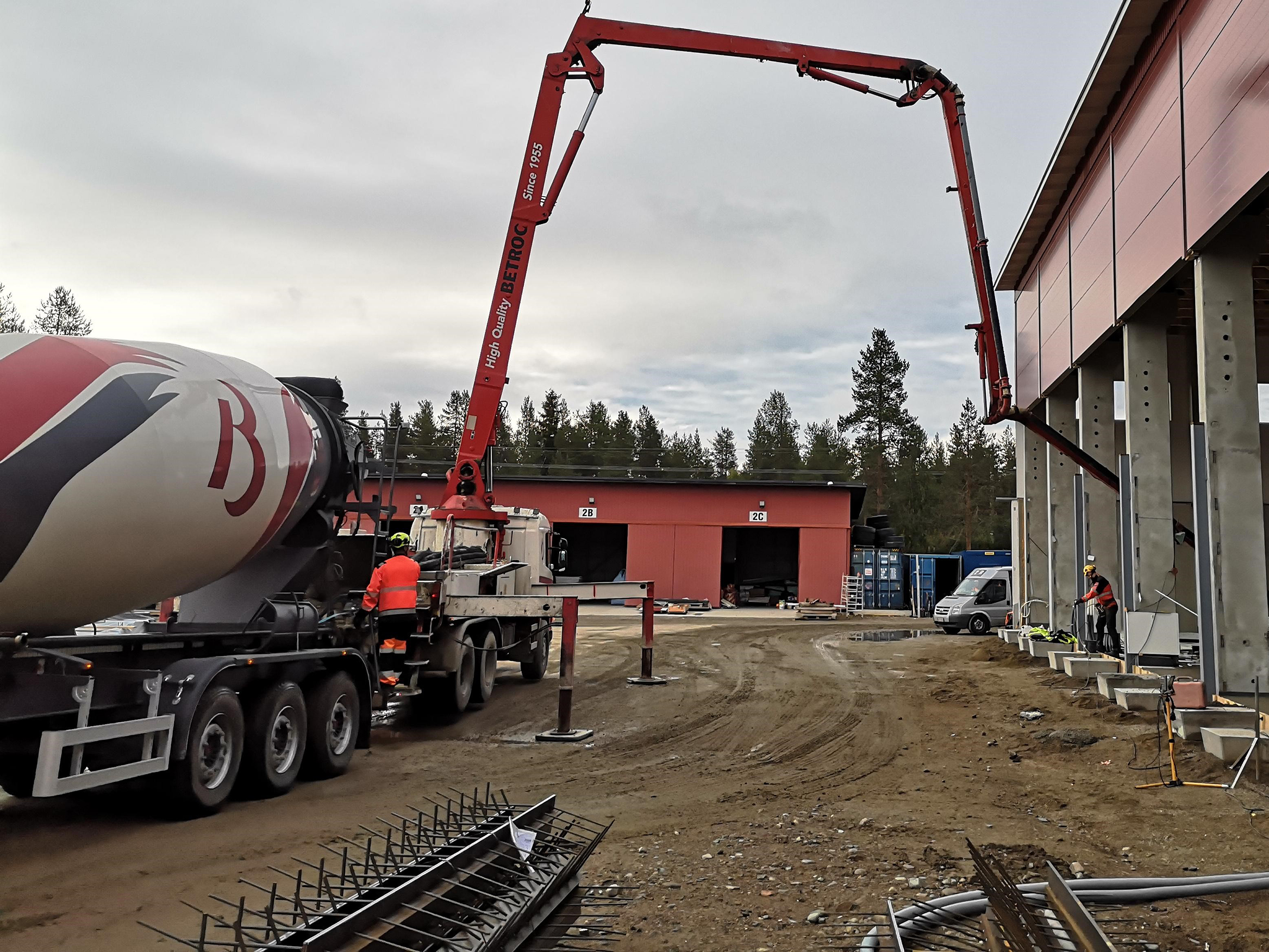 Ready-mixed concrete and pumping